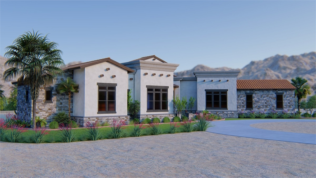 Front View image of THE SCOTTSDALE - R House Plan