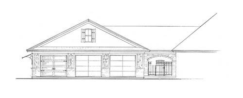 Garage Left Side Elevation by DFD House Plans