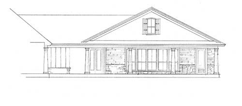 Garage Right Side Elevation by DFD House Plans