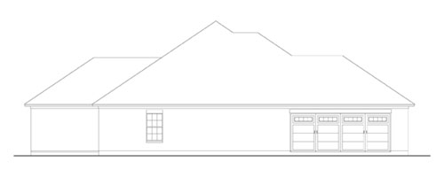 Left Side Elevation image of Creekwood House Plan