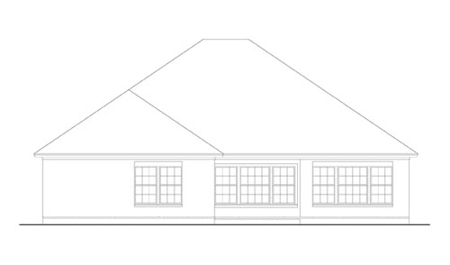 Rear Elevation image of Creekwood House Plan
