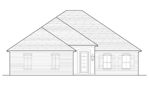 Front Elevation image of Creekwood House Plan