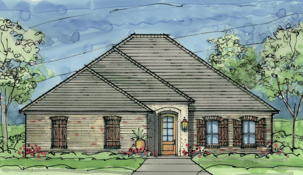 Front Rendering image of Creekwood House Plan