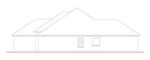 Right Side Elevation image of Creekwood House Plan