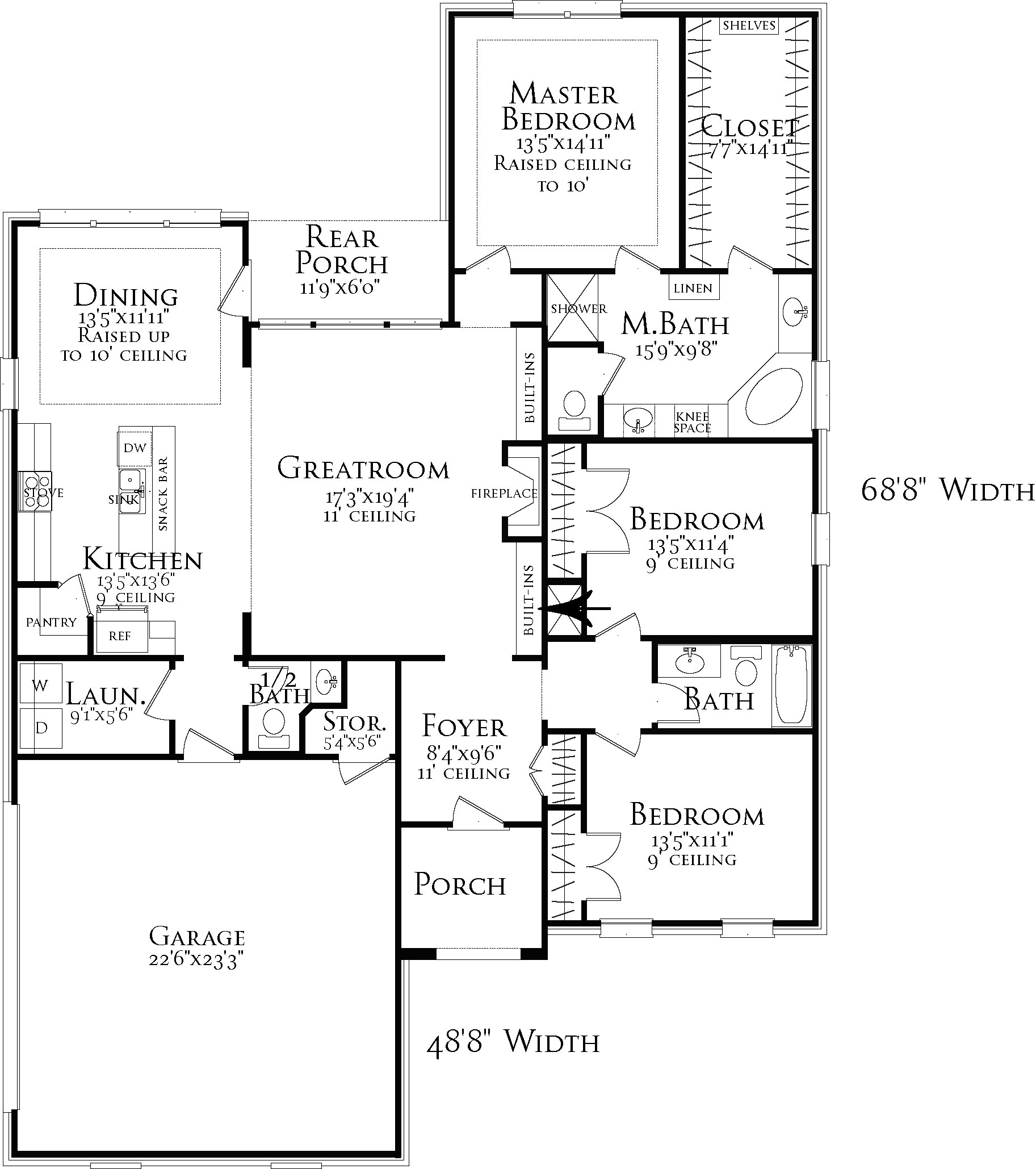 Floor Plan image of Creekwood House Plan
