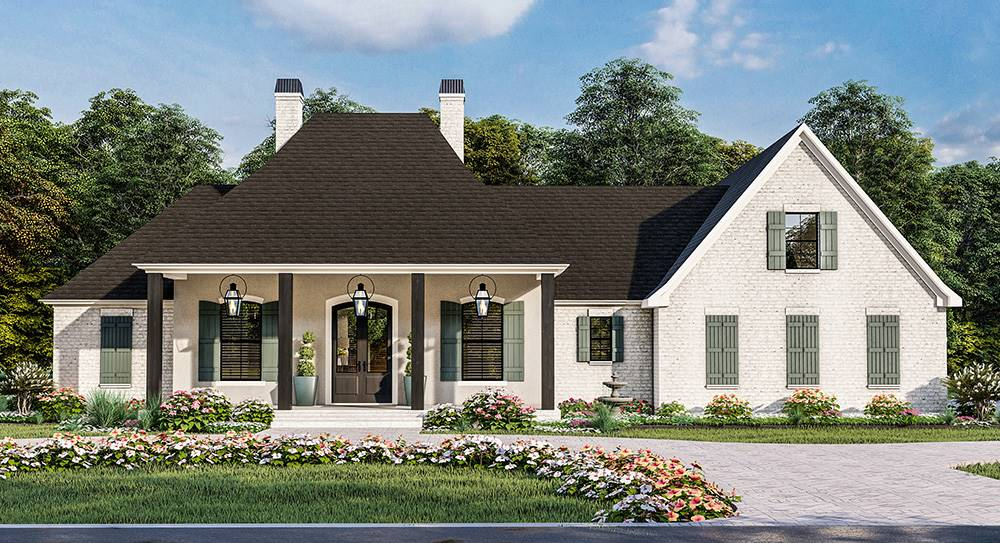 Front View image of French Quarter House Plan