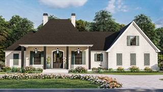 French Quarter Front Elevation by DFD House Plans