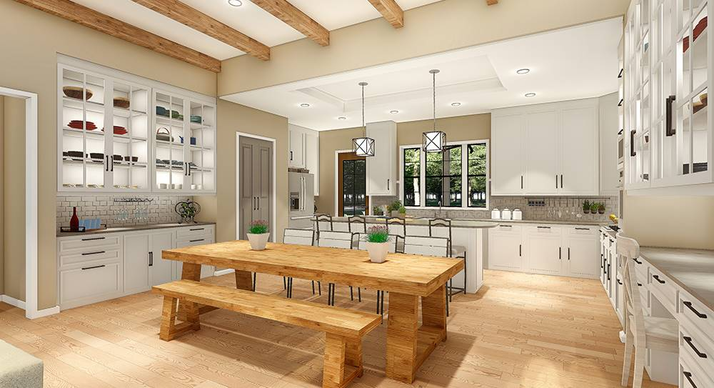 Dining/Kitchen by DFD House Plans