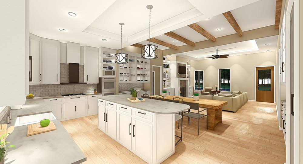 Kitchen/Dining/Living by DFD House Plans