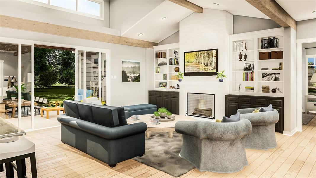 Family Room image of Blueberry Ridge House Plan