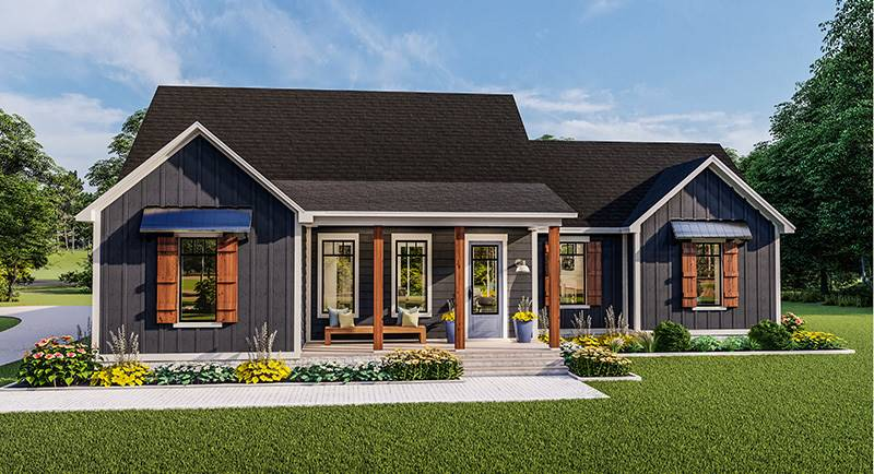 Front Elevation image of Blueberry Ridge House Plan