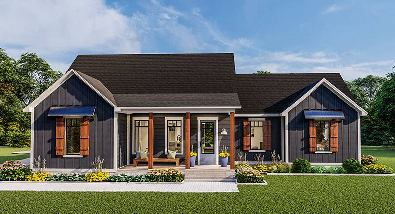 Front Rendering image of Blueberry Ridge House Plan
