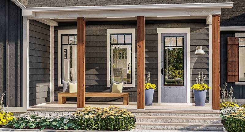 Front Porch image of Blueberry Ridge House Plan