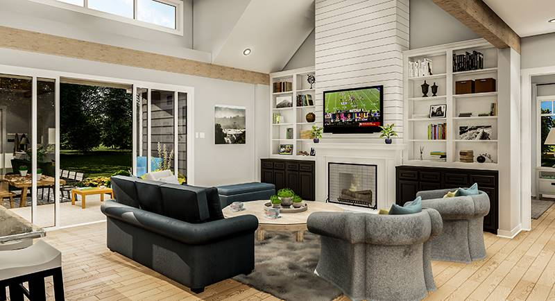 Living Room image of Blueberry Ridge House Plan