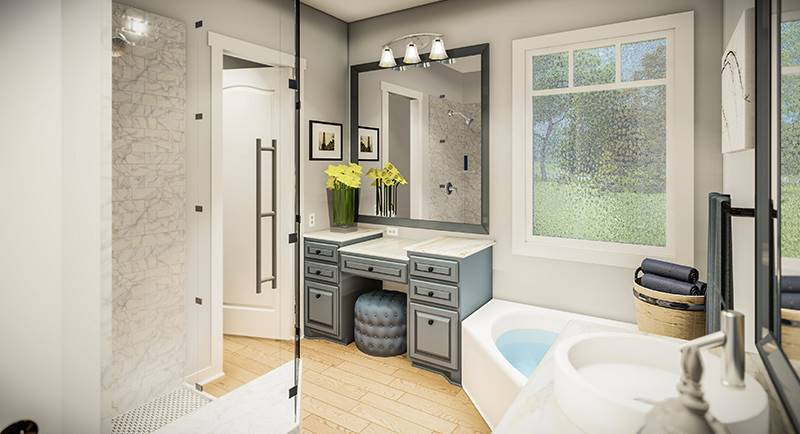 Master Bath image of Blueberry Ridge House Plan