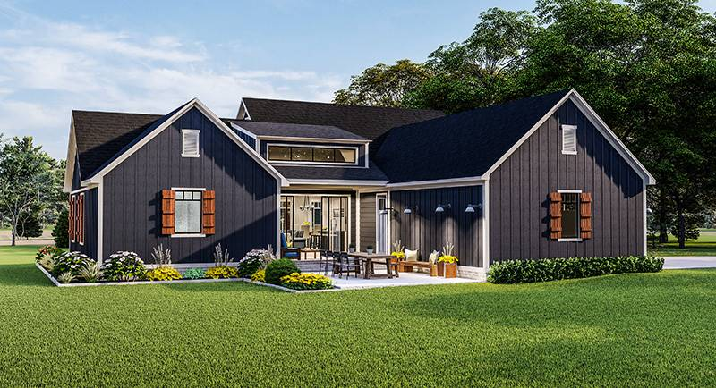 Rear Elevation image of Blueberry Ridge House Plan