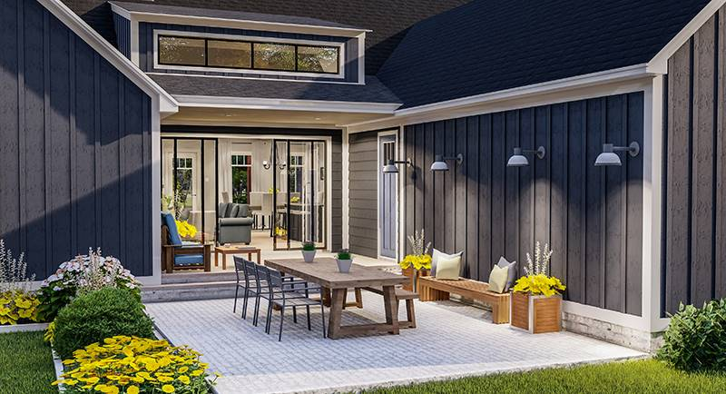 Rear Porch image of Blueberry Ridge House Plan
