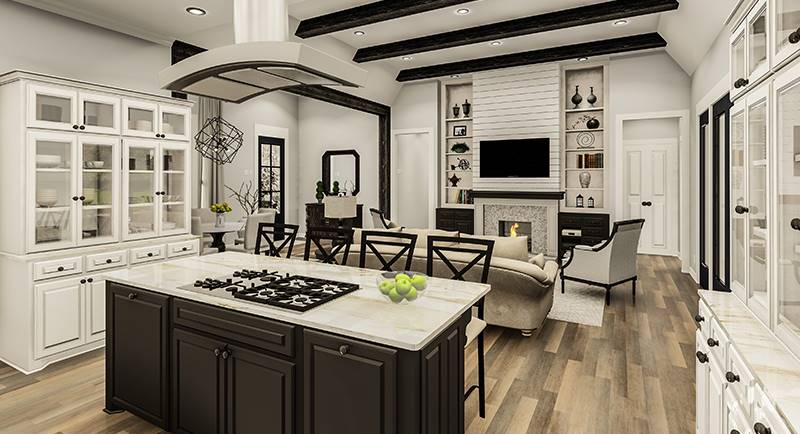 Kitchen/Living by DFD House Plans