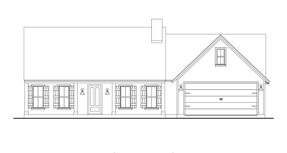 Front View image of Stonebrook House Plan