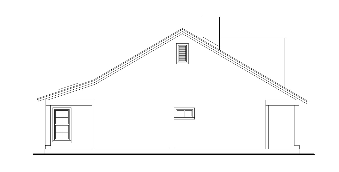 Left View image of Stonebrook House Plan