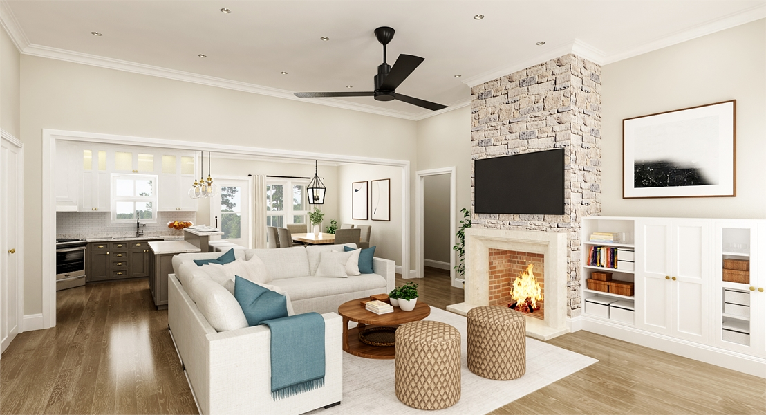 Living Room image of Stonebrook House Plan