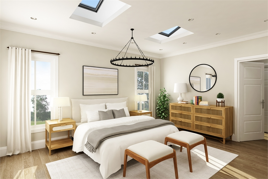 Master Bedroom image of Stonebrook House Plan