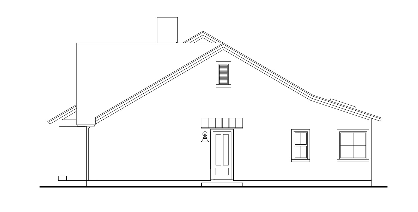 Right View image of Stonebrook House Plan