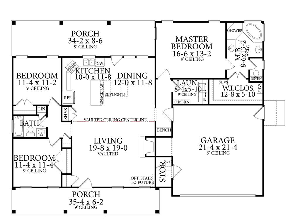 Floor Plan image of Cloverwood House Plan