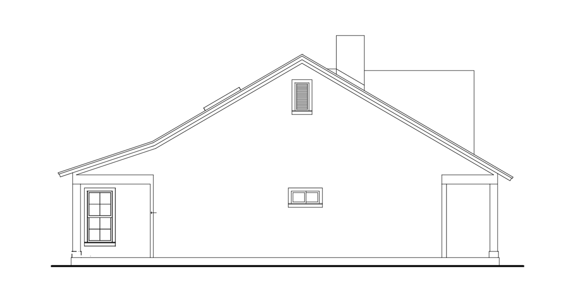 Left View image of Cloverwood House Plan