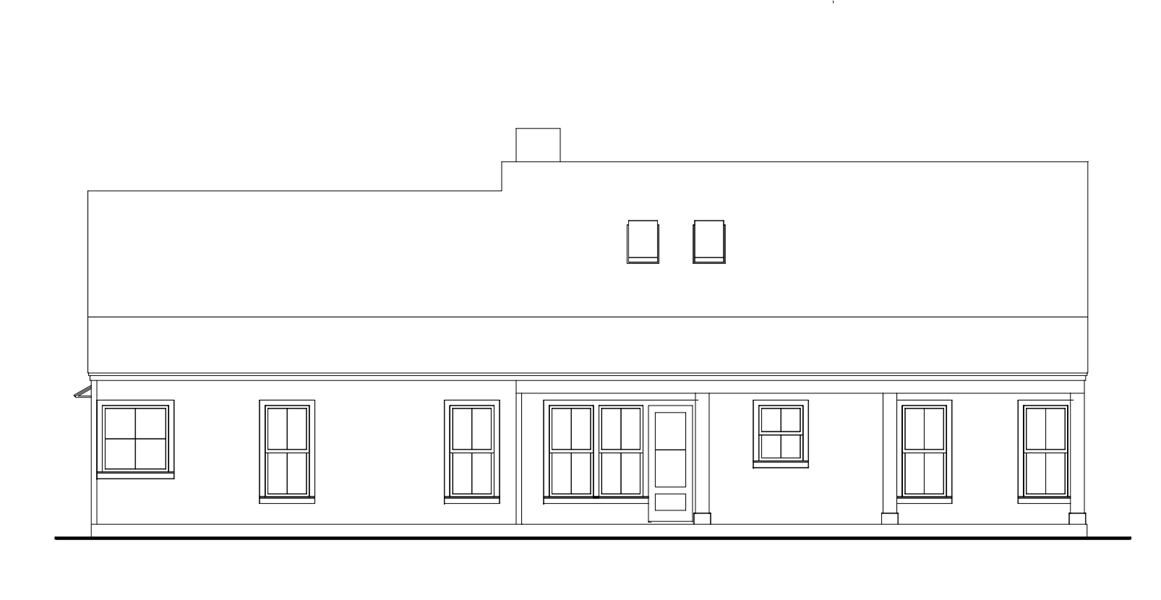 Rear View image of Cloverwood House Plan