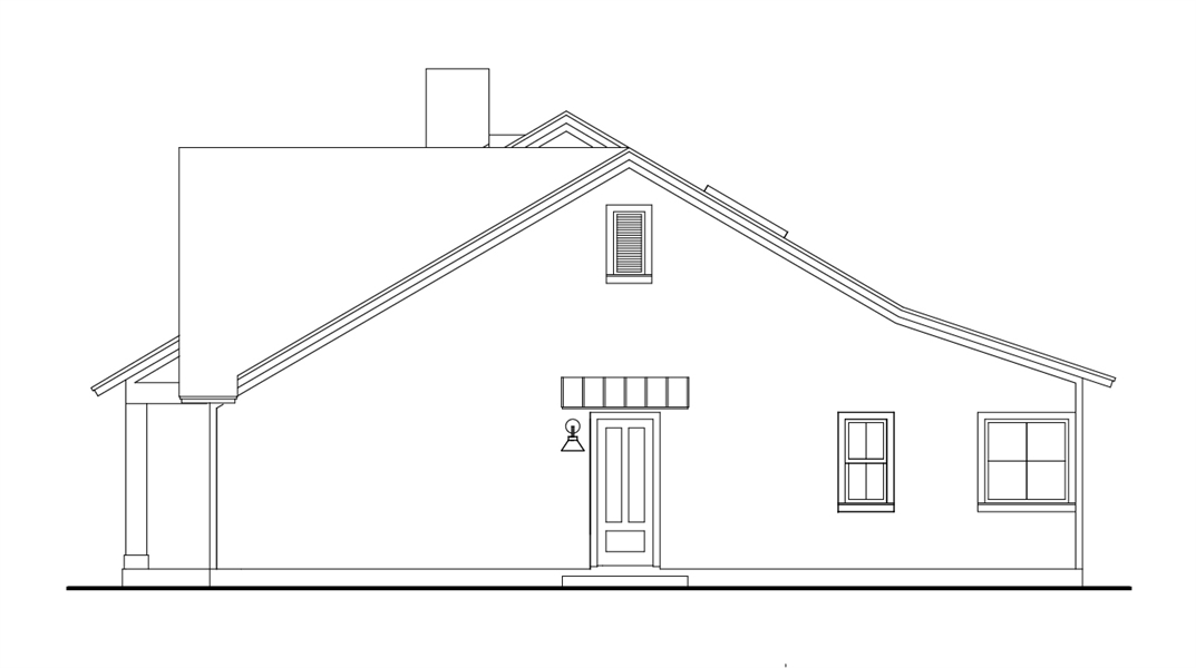 Right View image of Cloverwood House Plan