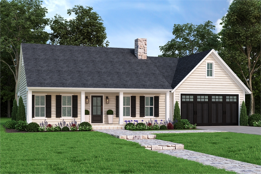Front View image of Cloverwood House Plan