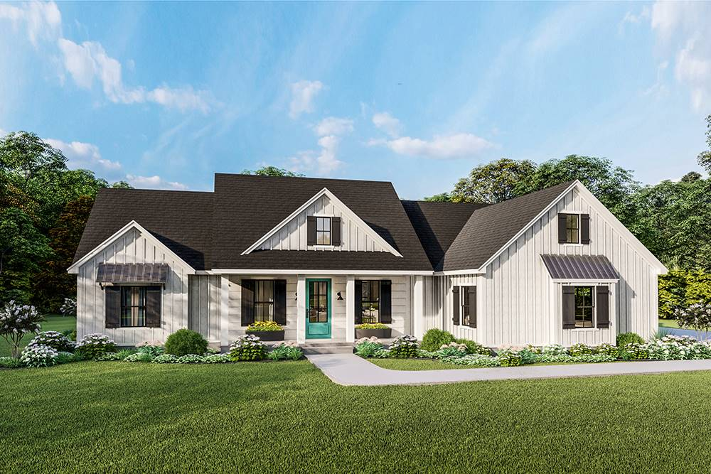 Front View image of Treehill House Plan