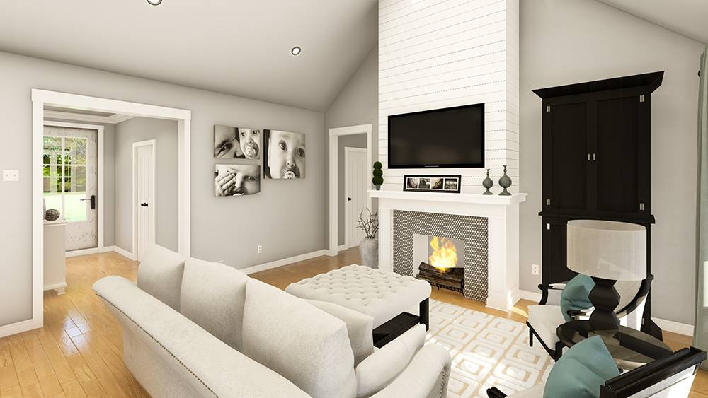 Living Room image of Treehill House Plan