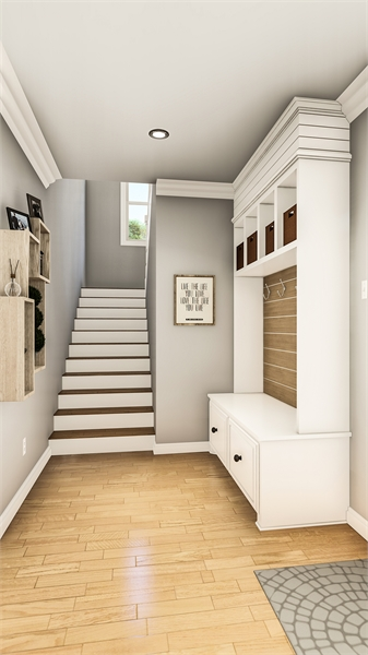 Mudroom image of Treehill House Plan