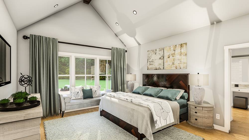 Master Bedroom image of Treehill House Plan