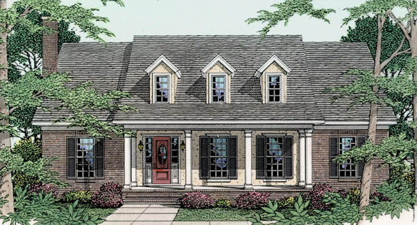 Cape cod house plan with 3 bedrooms and 2 5 baths plan 3546 for 5 bedroom cape cod house plans