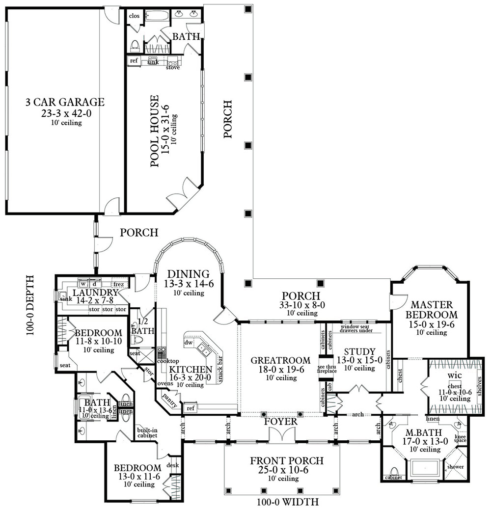 Floor Plan image of Bearden House Plan