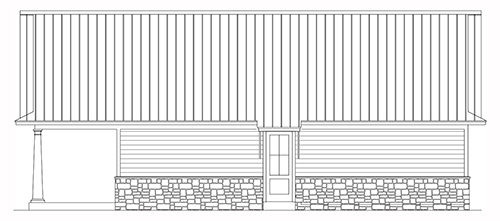Garage Rear Elevation image of Bearden House Plan