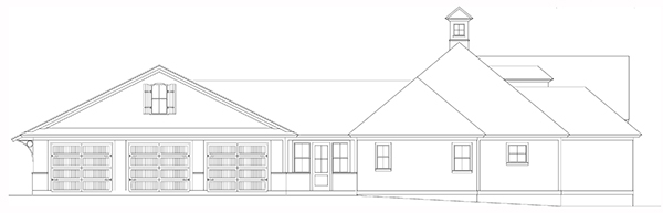 Left Side Elevation image of Bearden House Plan