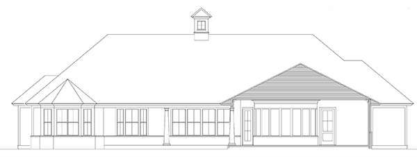 Rear Elevation image of Bearden House Plan