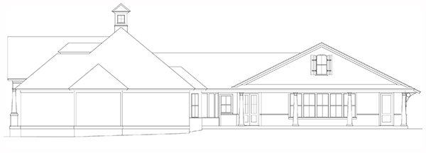 Right Side Elevation image of Bearden House Plan
