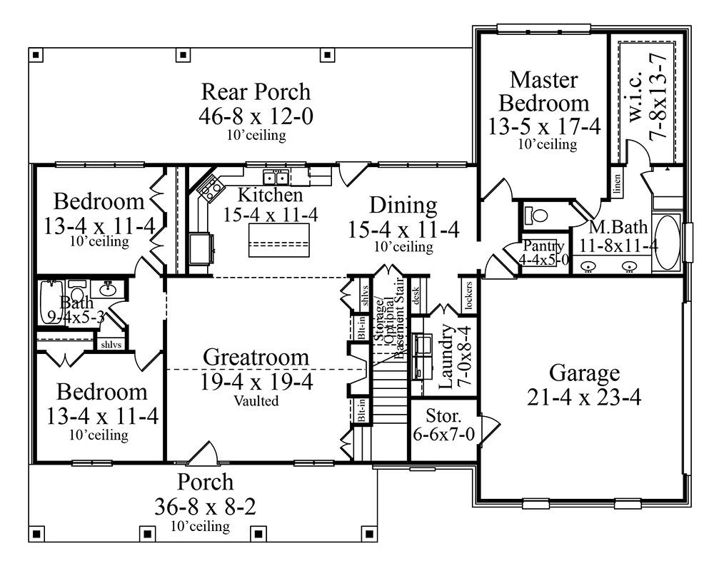 House carson house plan green builder house plans for Builder house plans com