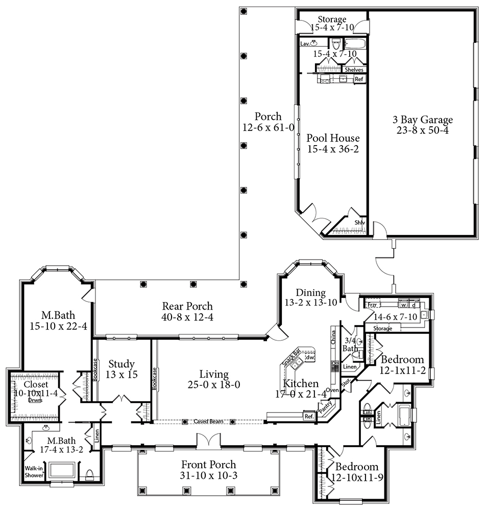 3 Bedrooms And 3 5 Baths Plan 2039