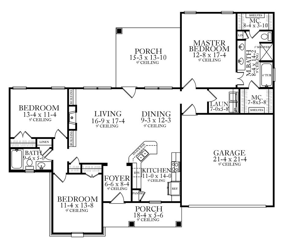 House plan 1770 larry james associates inc for Purchase floor plan