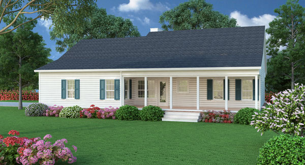 Country house plan with 3 bedrooms and 2 5 baths plan 5458 for 3 bedroom country home plans
