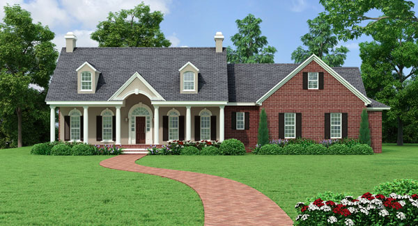 Southern house plan with 3 bedrooms and 2 5 baths plan 5558 for 1 5 story cape cod house plans