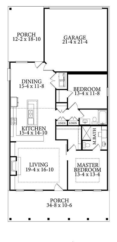 House Plan 1754 Larry James Designs