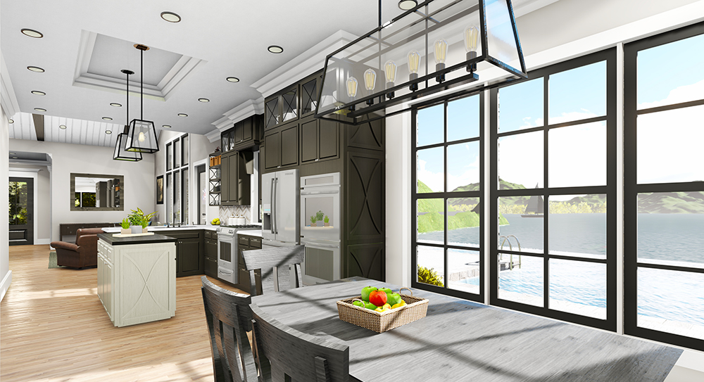 Dining/Living by DFD House Plans