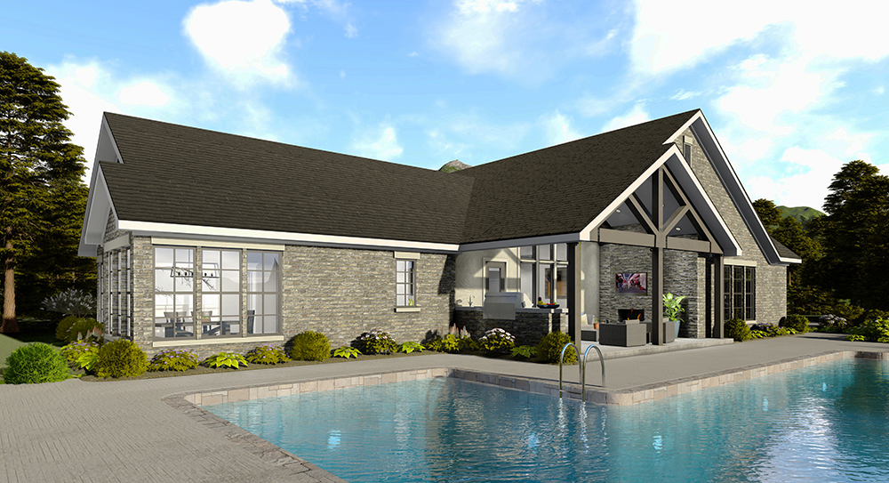 Left Side Elevation 2 by DFD House Plans